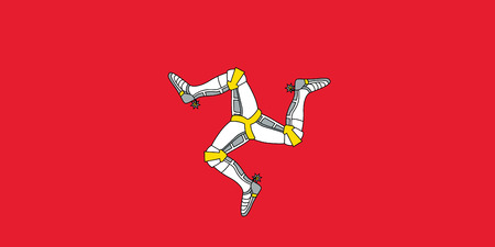 national women of color day: Standard Proportions and Color for Isle of Man Flag Illustration