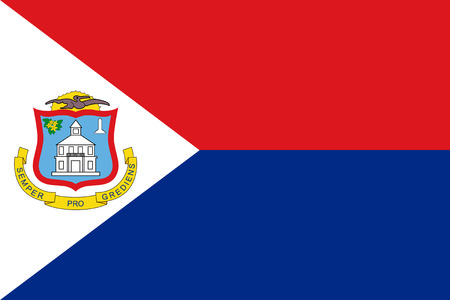 national women of color day: Standard Proportions and Color for Sint Maarten Flag