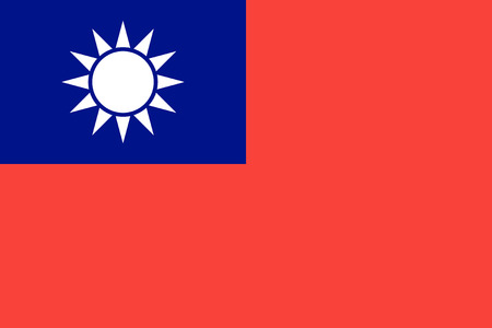 national holiday: Standard Proportions and Color for Taiwan Flag Illustration