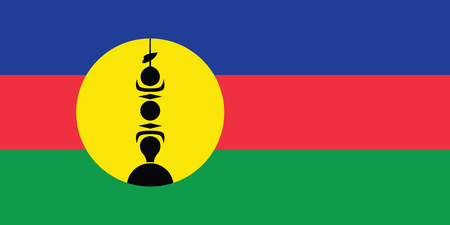 national women of color day: Standard Proportions and Color for New Caledonia Unofficial Flag Illustration