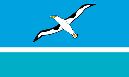 atoll: Standard Proportions and Color for Midway Atoll Unofficial Flag Illustration