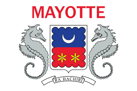 mayotte: Standard Proportions and Color for Mayotte Unofficial Flag