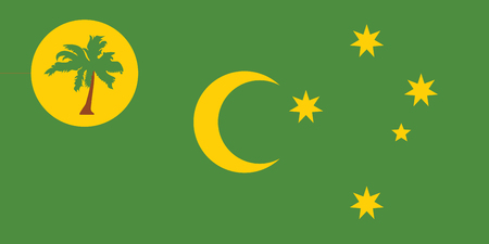 cocos: Standard Proportions and Color for Cocos (Keeling) Islands Official Flag Illustration
