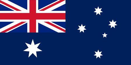 bandera uk: Las proporciones estándar y color para Ashmore y Cartier Bandera oficial Islas