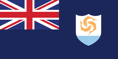 national women of color day: Standard Proportions and Color for Anguilla Official Flag