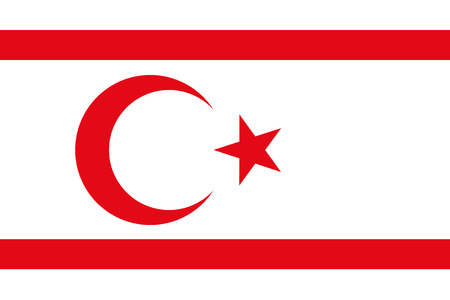 national women of color day: Standard Proportions for Northern Cyprus Official Flag Illustration