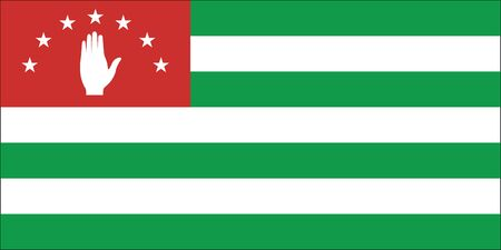 sukhumi: Standard Proportions and Color for Abkhazia Official Flag