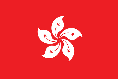national women of color day: Standard Proportions and Color for Hong Kong Official Flag Illustration