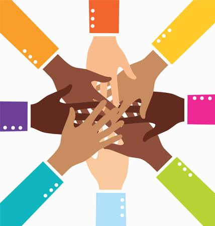 Creative Colorful Diversity Teamwork Business Hand
