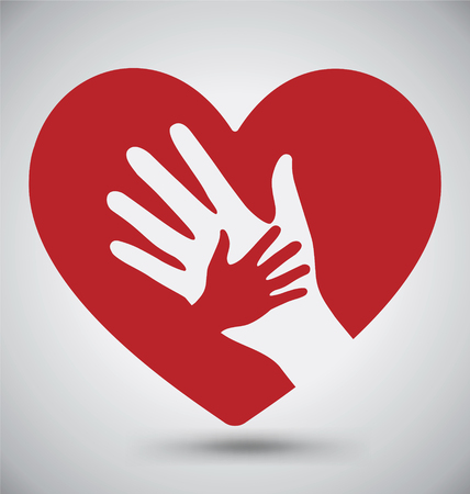Helping Hands On Red Heart
