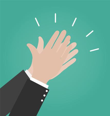 aplaudiendo: Manos aplaudiendo iconos vectoriales, icono Aplausos, enhorabuena Concept