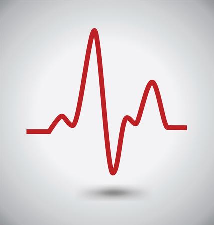 Electrocardiogram Icon, ECG or EKG Icon, Madical Concept