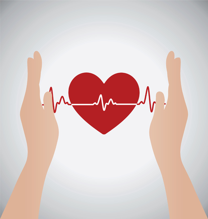 hands holding heart: Hands Holding Heart, Love Concept Illustration