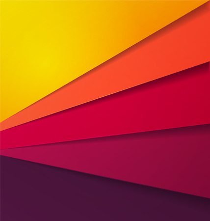 Abstract Multi Shade Color Vector Background With Overlap Paper Layer Illustration