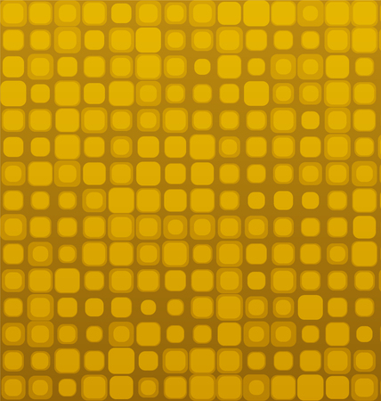 Square Golden Brown Seamless Geometric Vector Pattern
