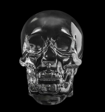 crystal head skull  isolated dicut with clipping path photo