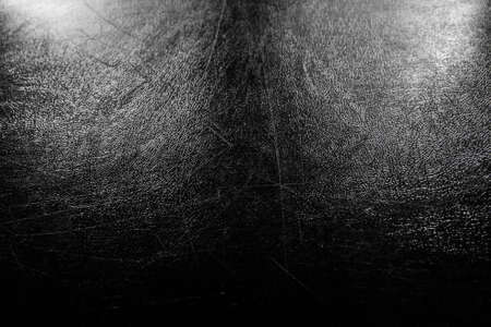 synthesis pvc leather black condition scratched and dust  light with illuminated in studio photo