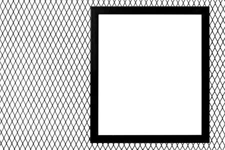 Industrie Metall Draht Netz Zaun Textur Isoliert Auf Weißem ...