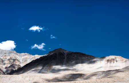very beautiful nature of Himalaya mountains background from pangong lake leh lardakh,india
