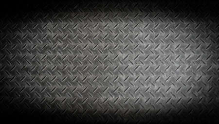 texture background of grungry old weathered  metal diamond plate with scratch and dirty in dark tone Stock Photo