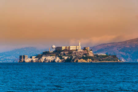 Alcatraz Island, San Francisco, California  facilities for a lighthouse, a military fortification, a military prison