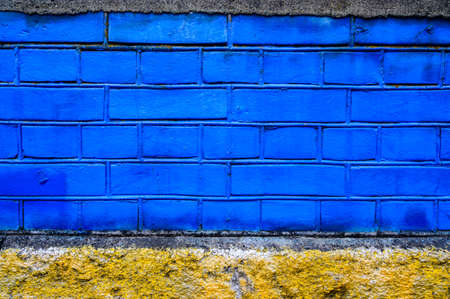 brick wall color painted background ,useful for background graffiti or insert any text for street art design