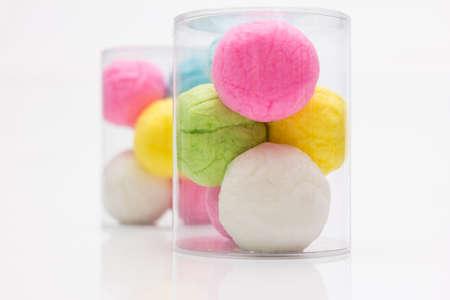 algodon de azucar: Cotton Candy colorido en el fondo blanco