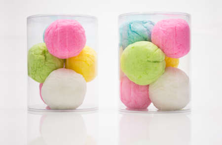 cotton candy: Colorful Cotton Candy on the white background