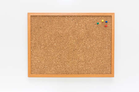 The cork board on the white background photo