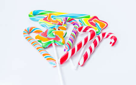 candy stick: The candy stick on the white background
