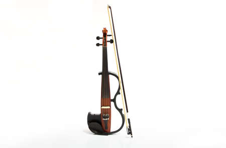 Electric violin isolated on white background