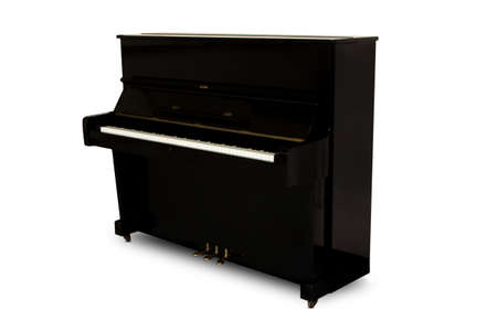 upright piano: The uplight piano on the white background