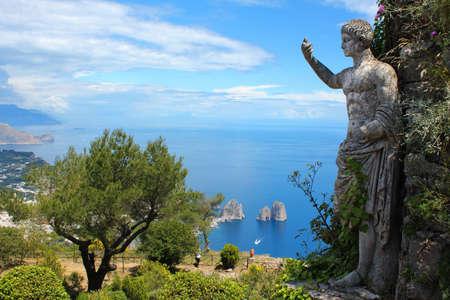 capri: Statue on Monte Solaro, Capri, Italy