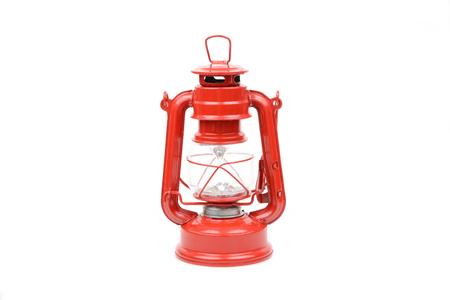 hurricane lamp: hurricane lamp Isolated on white Stock Photo
