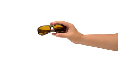 eyewear: isolated hand holding Fashion Eyewear