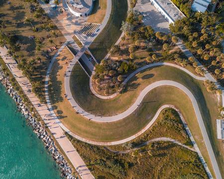 巻きパスループの空中 - クールデザイン 写真素材