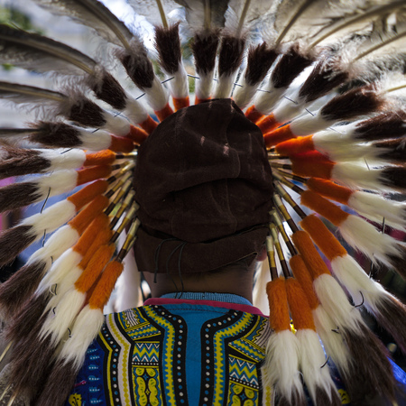 Indian chief with colorful headdress