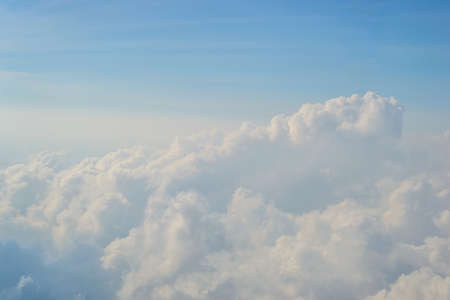 blue  backgrounds: beautiful blue sky and white clouds backgrounds