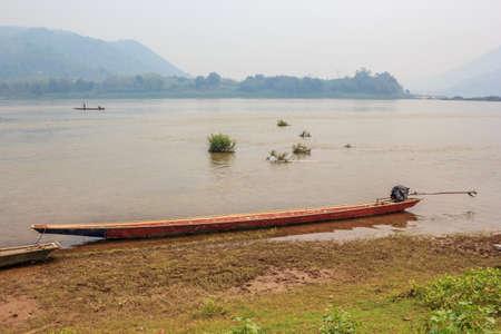loei: Fishing boat at Chiang Khan, Loei, Thailand