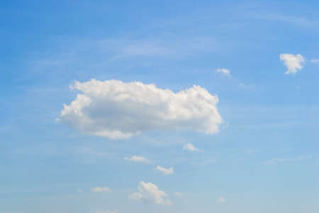 wispy: summer blue sky with wispy cloud Stock Photo