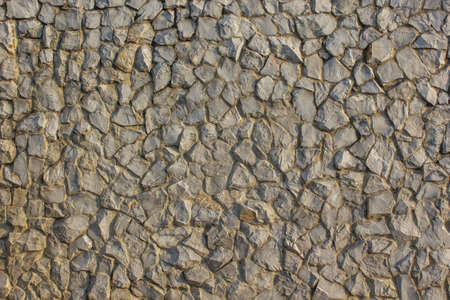 aggregate: rough texture surface of exposed aggregate finish