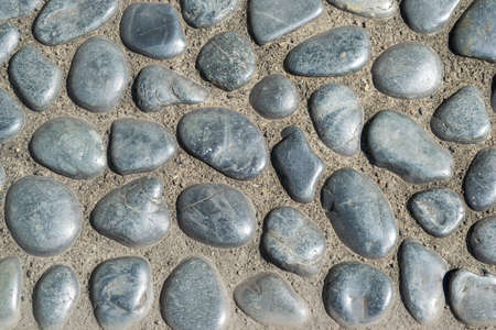 floor covering: Stone wall texture use for background Stock Photo