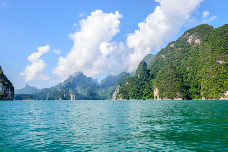sok: Beautiful mountains and river natural in Ratchaprapha Dam at Khao Sok National Park, Surat Thani Province, Thailand