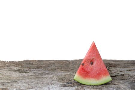 sliced watermelon: Sliced watermelon on the wooden table