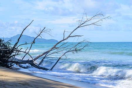 Sea and blue sky during the rainy season