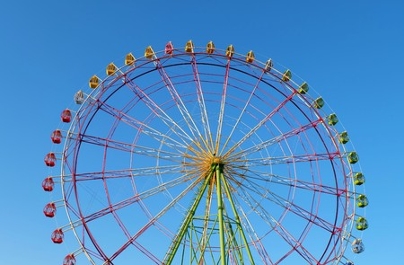 Ferris wheel in summer holiday