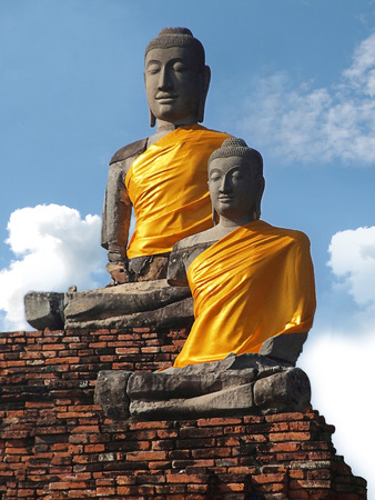 samadhi: Samadhi Buddha is enshrined on the Chukchi base of Wat Chai Watthanaram