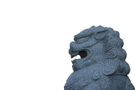 Lion statue in front of the entrance to the temple Stock Photo - 15843732