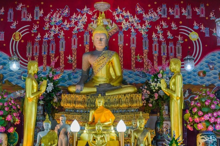 locating: Buddha in locating a church in Thailand  Stock Photo