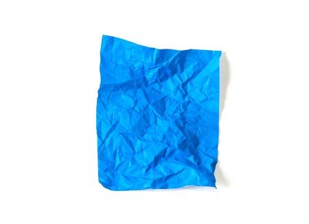 Crumpled Turkish blue paper Stock Photo - 17715249
